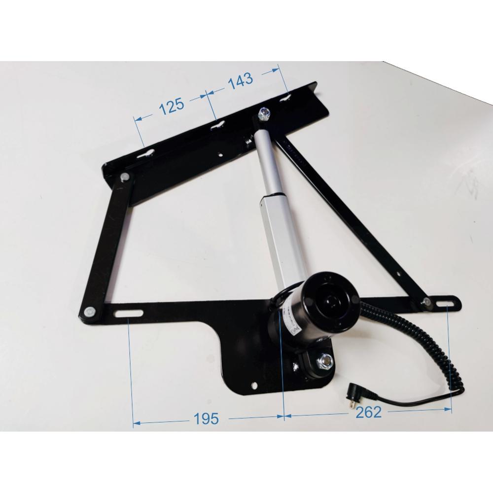 Dimensiones de montaje del kit de apertura motorizada